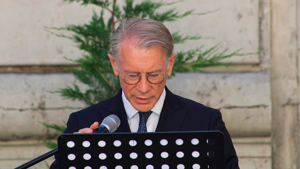 Leonardo Costantino agradeció a las dos copresidentas del Colectivo Argentino por la Memoria.