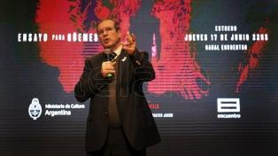 Bauer encabezó la presentación de una película sobre Güemes junto a Sbaraglia y Morán