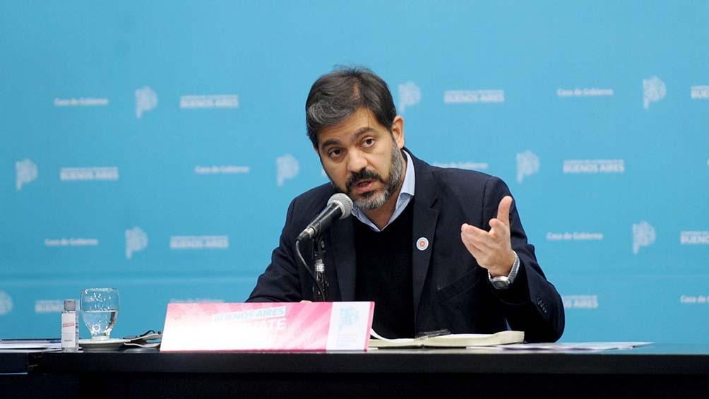 Bianco hizo estas declaraciones en conferencia de prensa junto al gobernador Kicillof.
