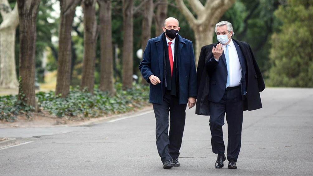 Fernández y Perotti se encontraron en la residencia de Olivos.