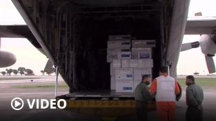 Entregaron respiradores, insumos y vacunas en Córdoba