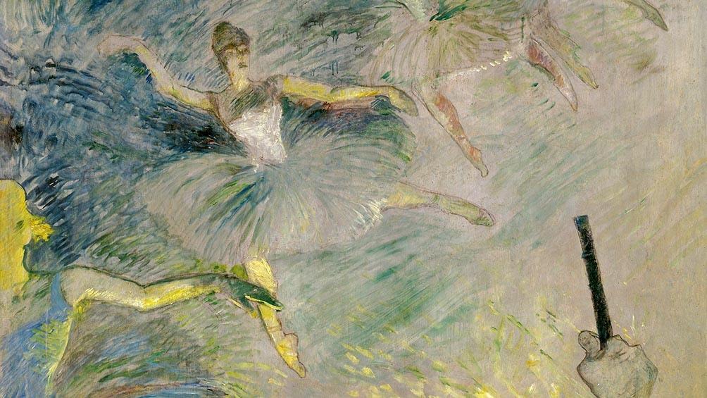 """Bailarinas de ballet"" (1885), de Henri de Toulouse-Lautrec."