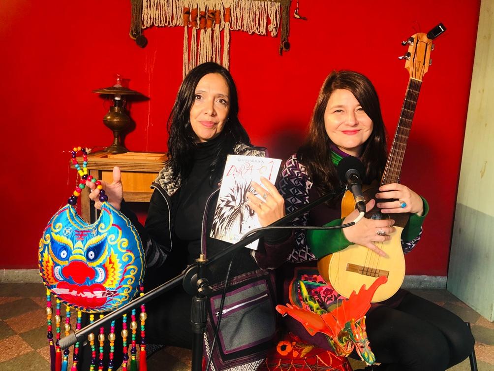 La intérprete Chiqui Ledesma y la autora y compositora Verónica Parodi, además Directoras del  Ecunhi.
