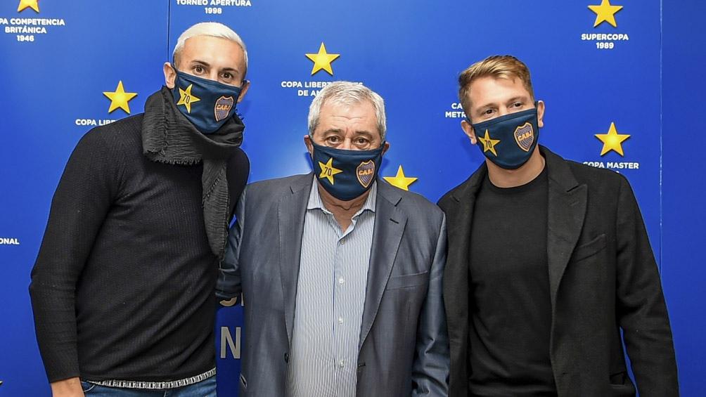 Ambos futbolistas, junto a Weigandt y Orsini, por ahora son los nuevos de Boca.
