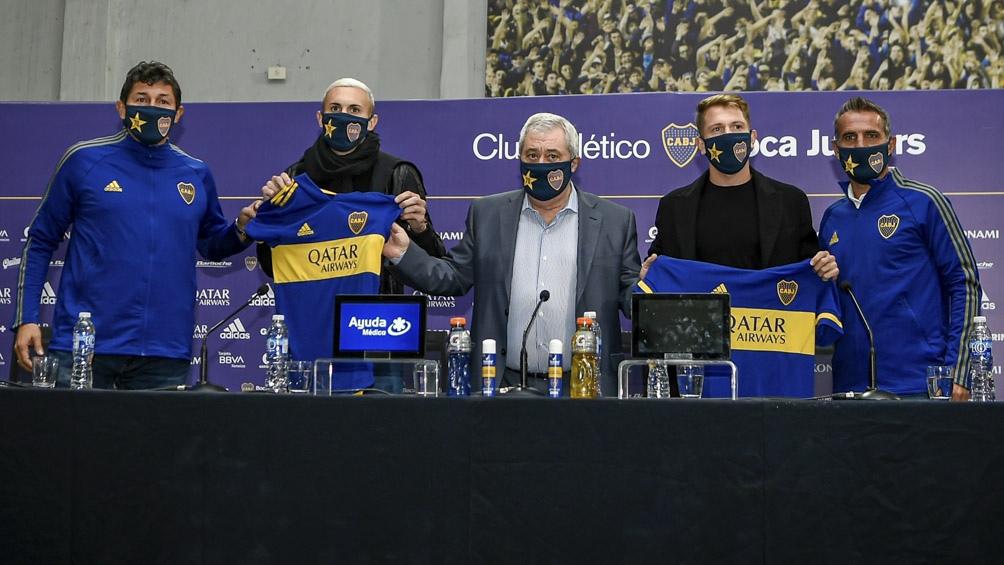 Boca Juniors sumó dos caras nuevas: presentó a Briasco y a Rolón