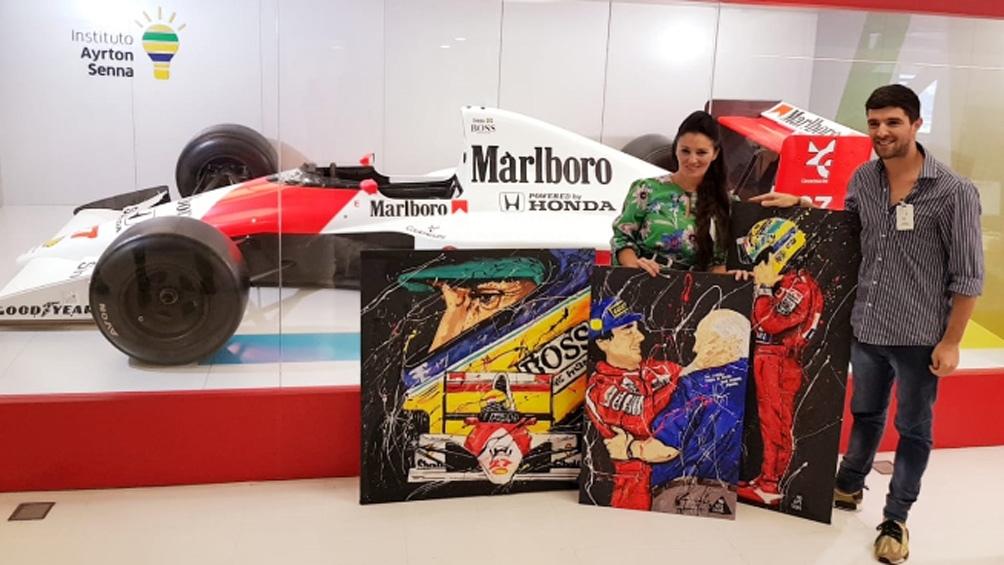 La artista argentina que inmortalizó a Fangio y Senna sobre el lienzo
