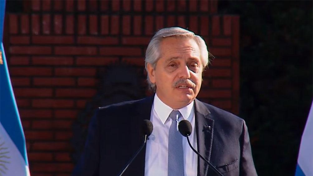 Fernández, durante el acto.