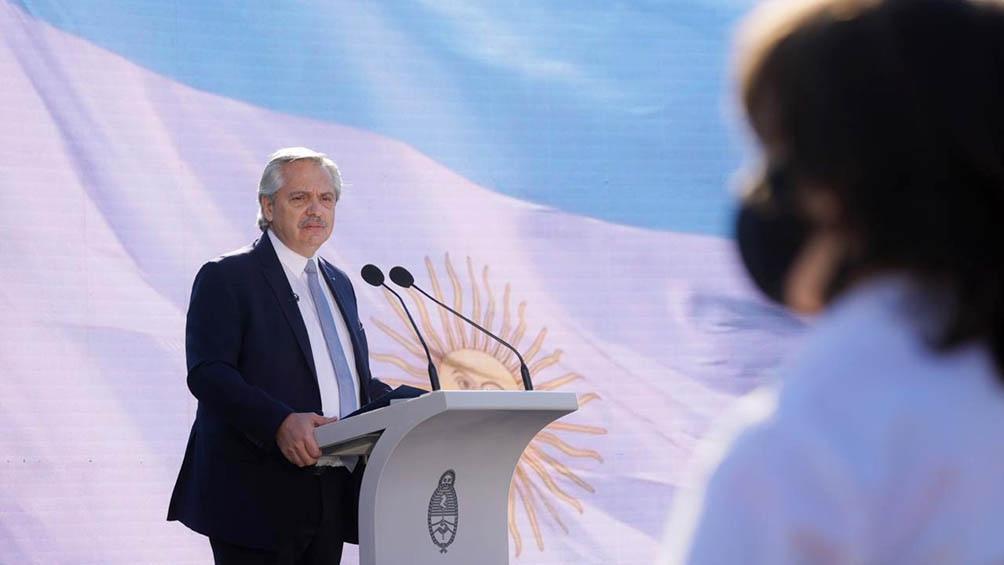 """""""La Patria somos todos nosotros"""", puntualizó el mandatario."""