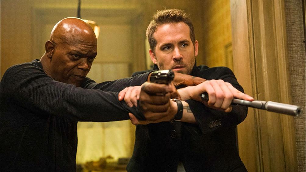 "Samuel L. Jackson y Ryan Reynolds en ""The Hitman's Wife Bodyguard"""