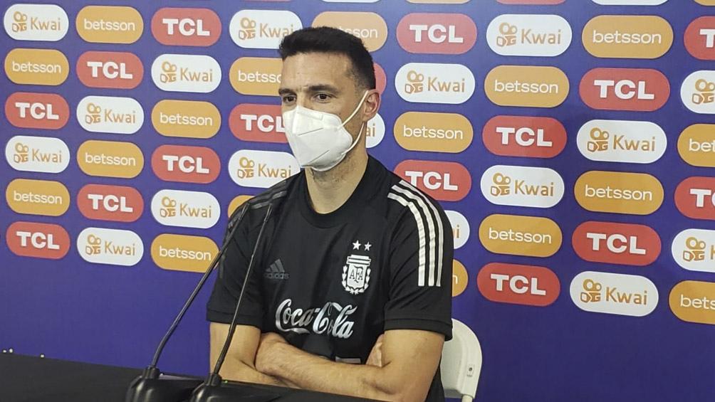 Scaloni analizó el desempeño del equipo en la Copa América y se refirió a un posible duelo ante Brasil (foto archivo)
