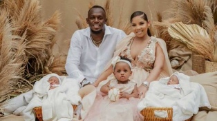 Usain Bolt fue papá de gemelos