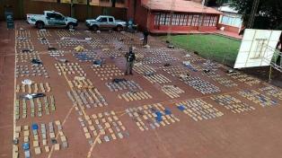 Gendarmería secuestró más de una tonelada de marihuana en Misiones