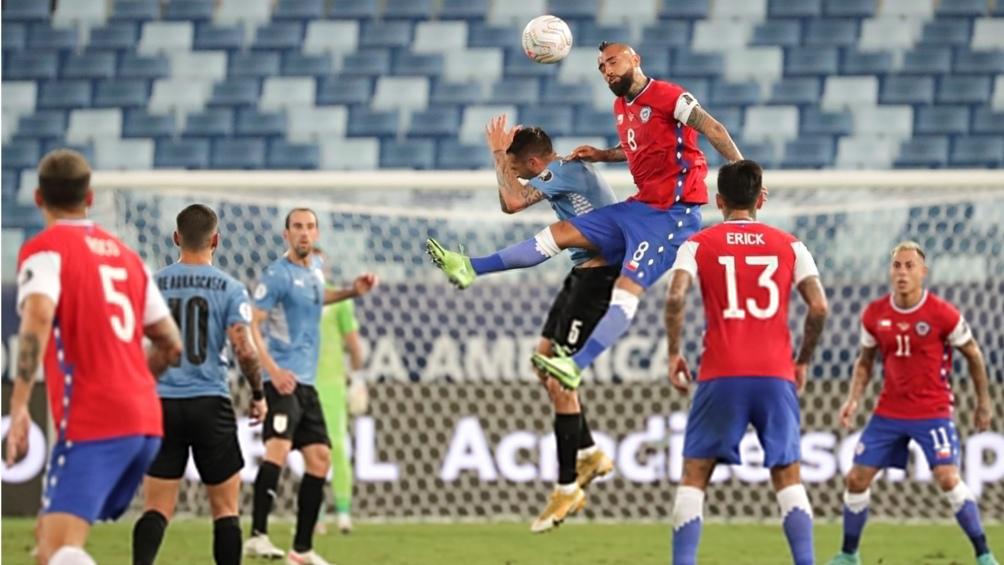 """Chile comenzó aguantando la diferencia ante un seleccionado """"Charrúa"""" sin gol (Foto: @CopaAmerica)"""