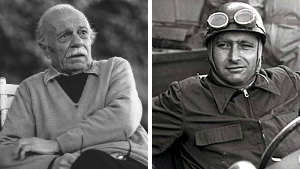 Dos bonaerenses, uno de Rojas -Sabato- y el otro de Balcarce -Fangio-, unidos en esta nota de Télam.