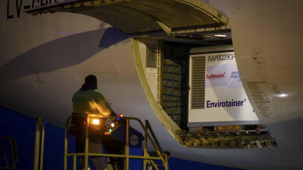 La de este martes fue la vigesimoséptima operación de Aerolíneas Argentinas en búsqueda de vacunas.