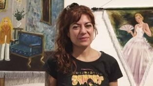 Acusan de plagio a la artista que pintó a Evita como un personaje de animé