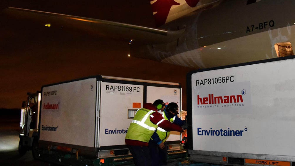 Aerolíneas Argentinas lleva transportadas, en 27 operaciones, 15.436.290 vacunas desde el inicio de estos operativos.