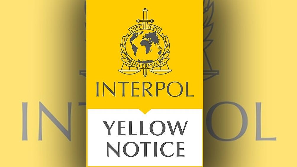 La notificación amarilla es un alerta policial mundial sobre una persona desaparecida.