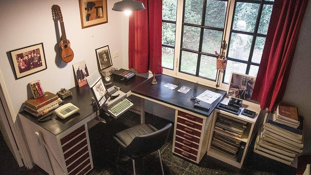 El escritorio donde creó algunas de sus grandes obras.