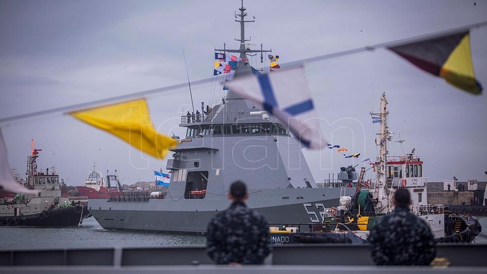 La embarcación realizó tareas de adiestramiento en el mar durante diez días para afianzar el manejo.