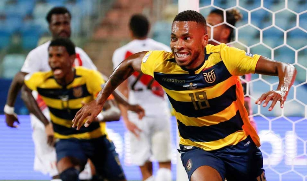 Preciado, el autor del segundo gol de Ecuador (Foto: @CopaAmerica)