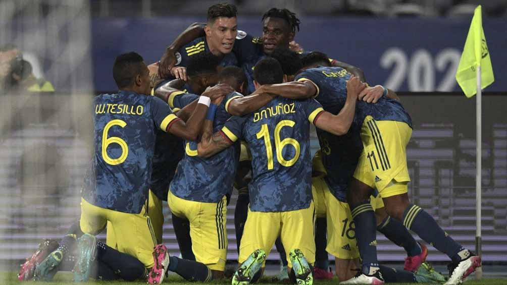 El festejo colombiano en el 1-0 ante Brasil, con la tremenda definición de Luis Díaz (Foto: @CopaAmerica)