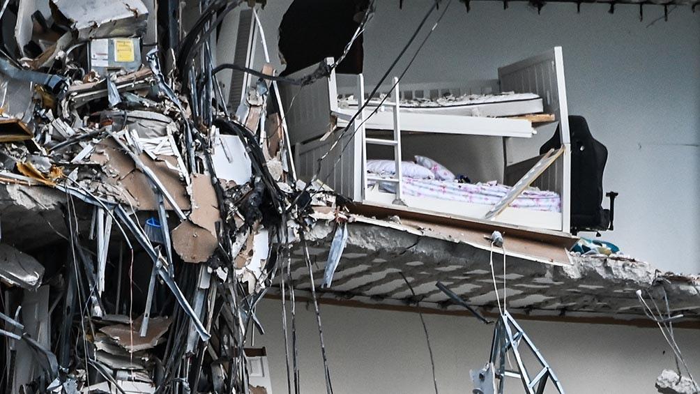 El trabajo de reparación no se había terminado cuando el edificio se derrumbó