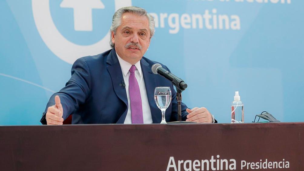 """El presidente Alberto Fernández afirmó que """"vamos a ganar las elecciones"""" y convocó a la militancia del Frente de Todos a """"advertir"""" en la campaña sobre """"todo lo que el Gobierno hizo"""" en la pandemia."""
