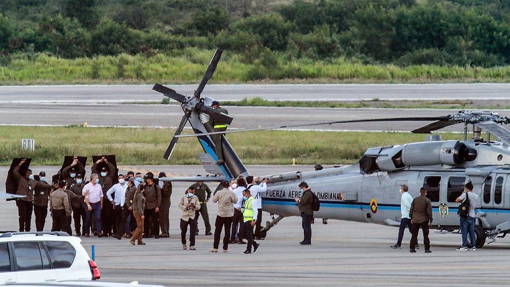 El 25 de junio el helicóptero de Duque fue impactado con seis balas