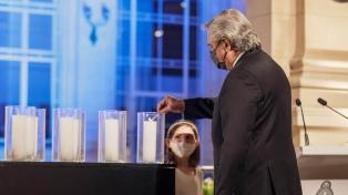 """El Presidente rindió homenaje a las víctimas de la pandemia y convocó a """"construir sin divisiones"""""""