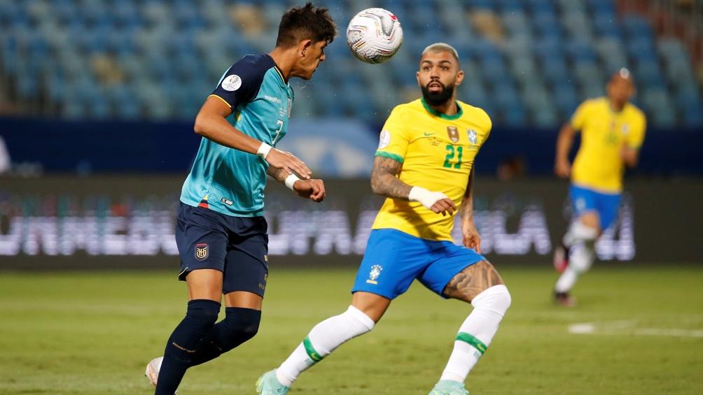 Gustavo Alfaro le dio la clasificación a Ecuador frente a Brasil ()Foto: @CopaAmerica