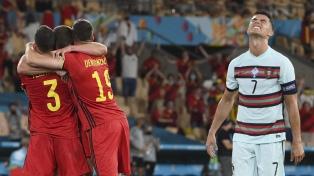 Bélgica eliminó al campeón defensor Portugal, con Cristiano Ronaldo