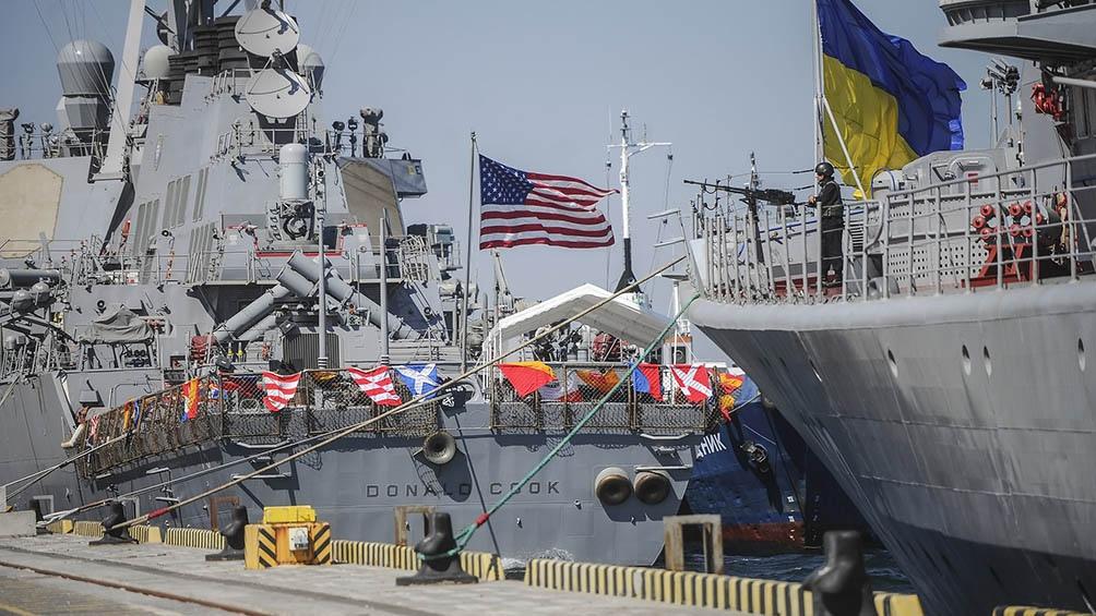 EEUU y Ucrania iniciaron maniobras navales conjuntas