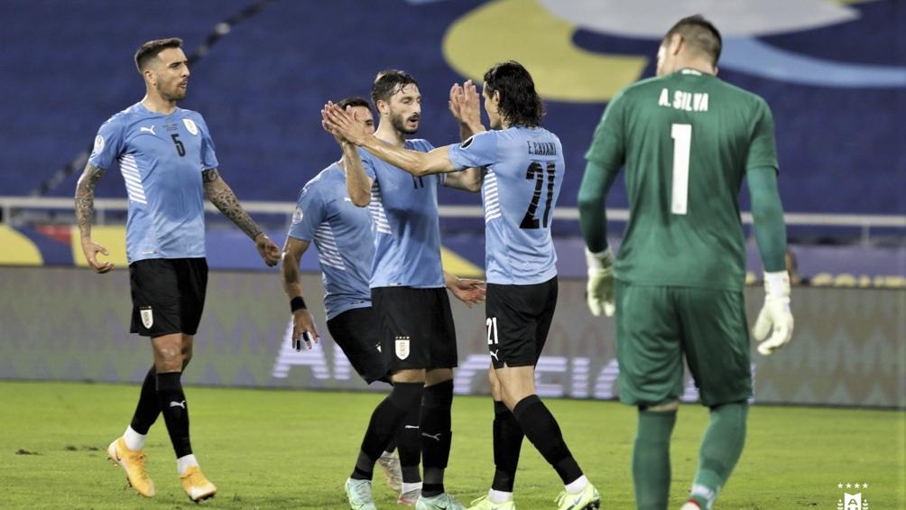 """Uruguay le ganó a Paraguay y se ubicó segundo en el grupo """"A"""" (Foto: @Uruguay)"""