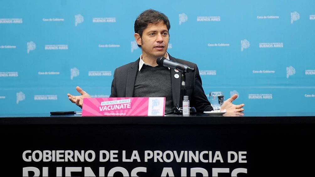 """El gobernador bonaerense señaló que son """"medidas de cuidado y prevención razonables""""."""