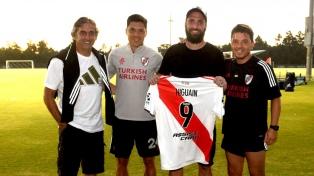 Gonzalo Higuaín fue la visita de lujo para River en su pretemporada en EEUU