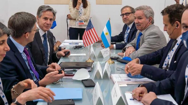 Solá se reunió con Antony Blinken y Heiko Maas en la Cumbre de Ministros del G20