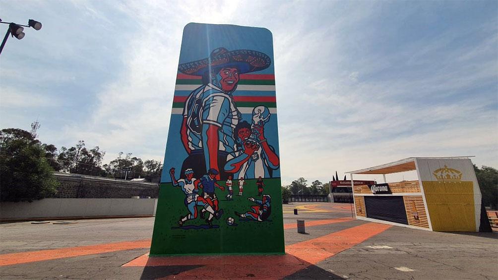Maradona ya tiene su mural en México