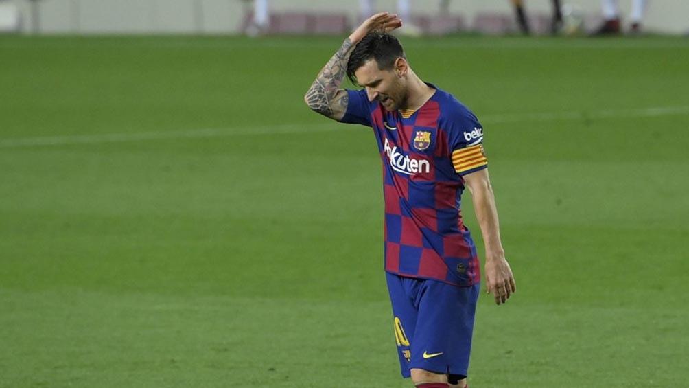 Messi y la imagen que el Barcelona no desea, la de su marcha de La Liga (foto archivo)
