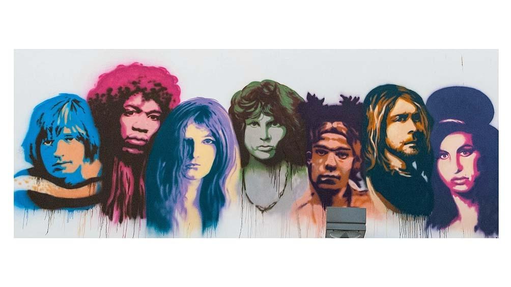 Las leyendas impresas para siempre en la mitología del rock y, en este caso, en un mural en Tel Aviv, Israel.  Foto gentileza:De Psychology Forever - Trabajo propio, CC BY-SA 4.0