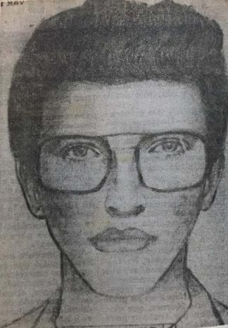 El identikit del Melogno que distribuyó la Policía.