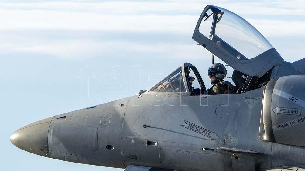 Un aereo A4 AR dell'aeronautica militare argentina.