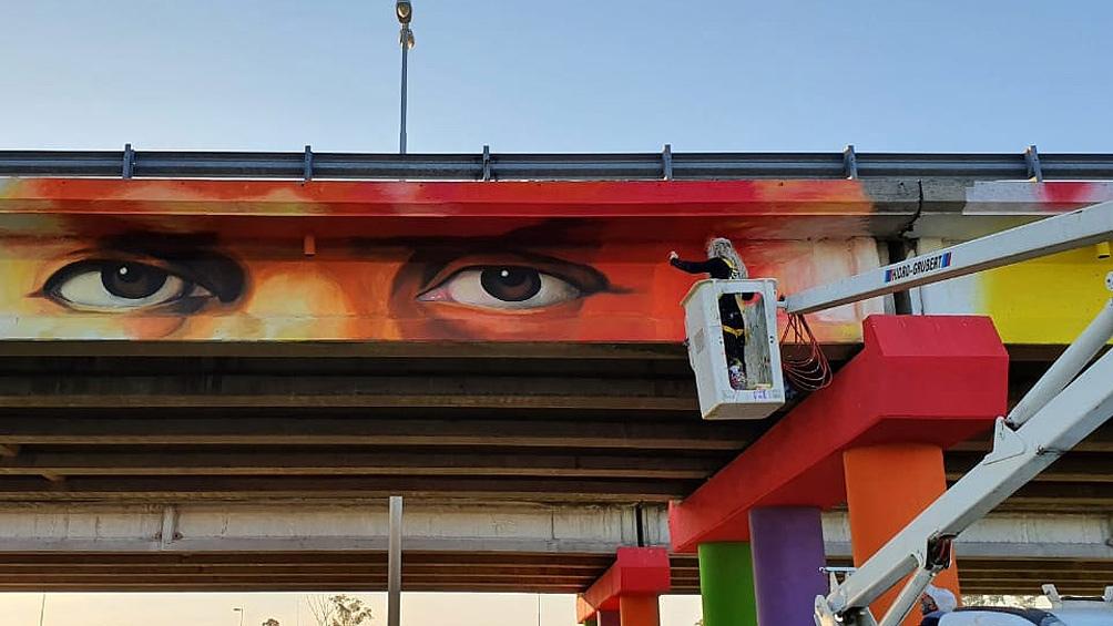 Pintaron el mural bonaerense más grande en homenaje a los