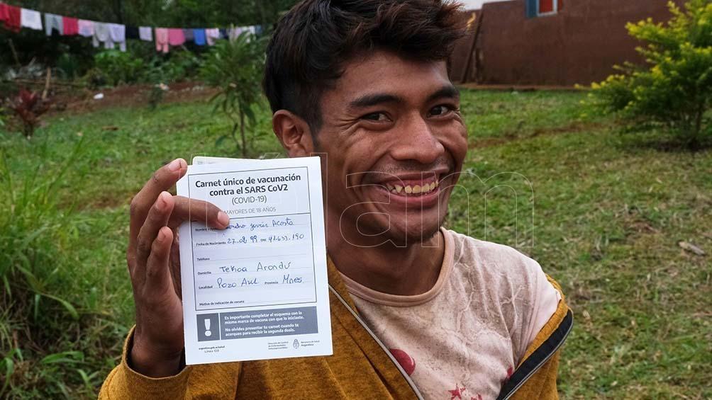 Las comunidades Alecrín y Tekoa Arandú son algunas de las que fueron alcanzadas por el operativo de vacunación. Foto: Germán Pomar