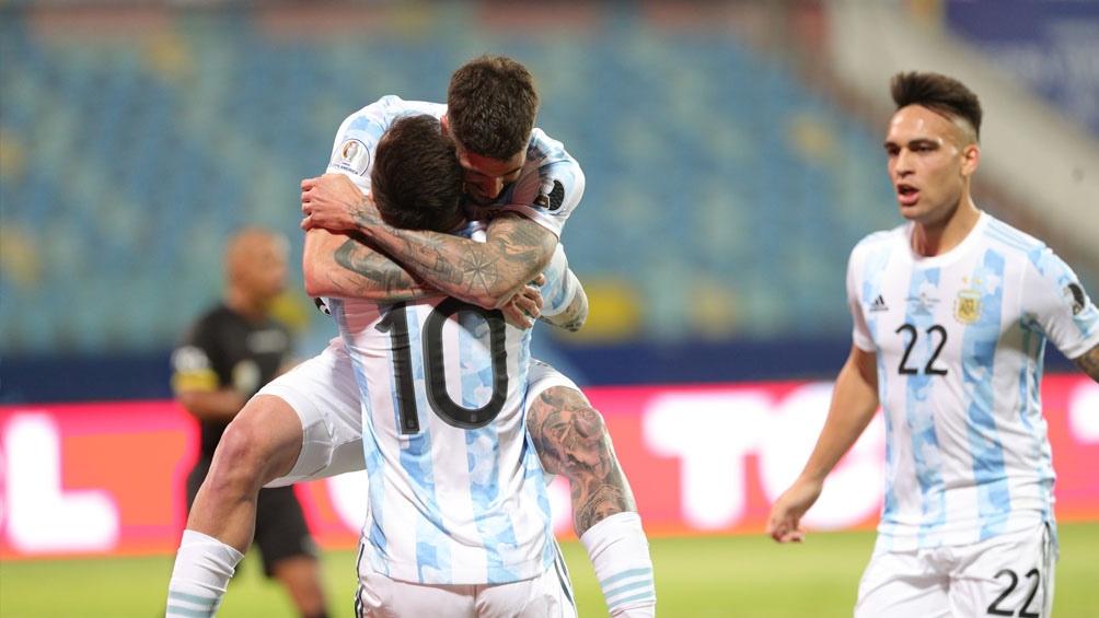 Argentina goleó a Ecuador y es semifinalista (Foto: @CopaAmerica)