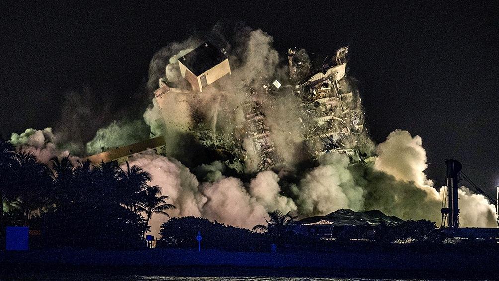 Demolieron lo que quedaba del edificio en Florida