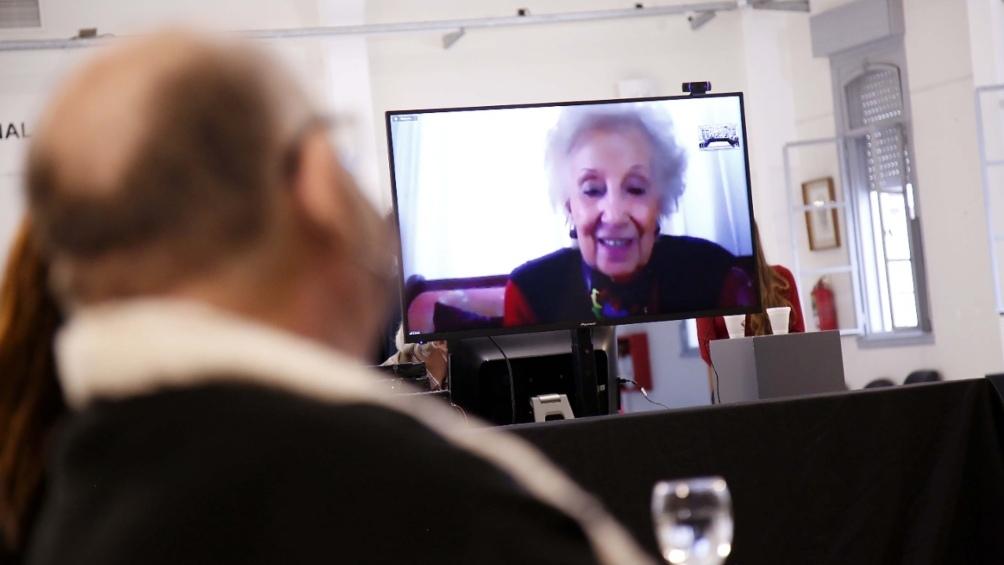 Estela de Carlotto, presidenta de Abuelas de Plaza de Mayo, participó de la reunión.