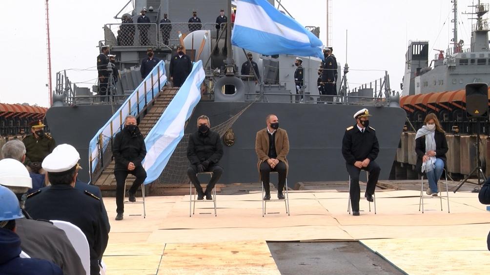 """El titular de Tandanor, Miguel Tudino, agradeció """"el apoyo inconmensurable de todo el equipo del Ministerio de Defensa."""