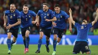 Italia a la final: empató 1 a 1 con España y definió en los penales