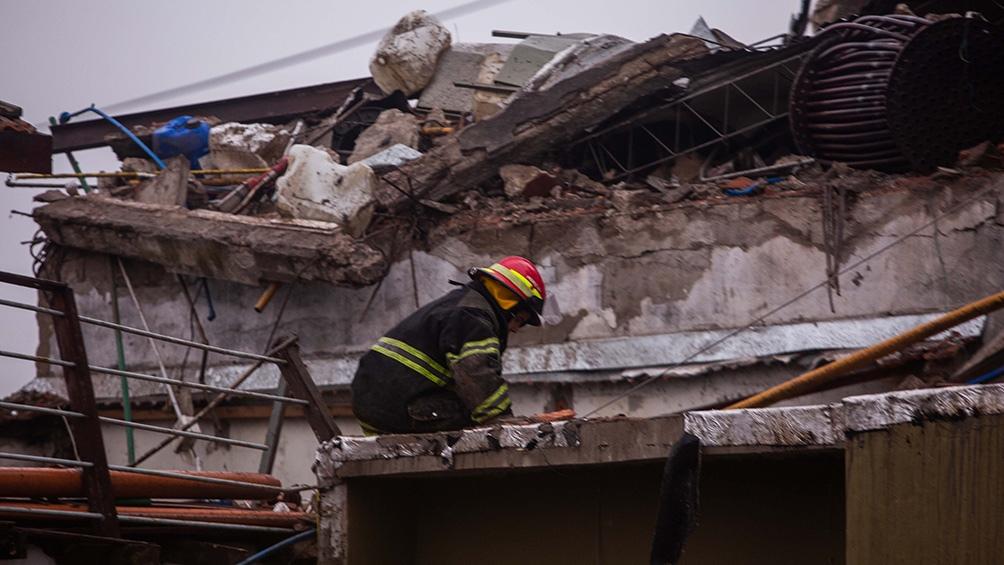 En el momento de la explosión había dos empleados en la fabrica que salieron por sus propios medios. Foto: Diego Izquierdo